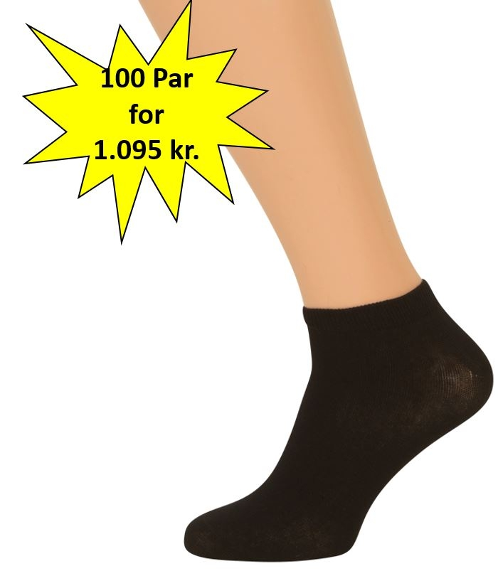 shopwithsocks 100 par sorte ankelsokker på shopwithsocks