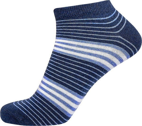 Jbs ankelstrømper med blå striber (korte strømper) - str. 40-47 fra jbs på shopwithsocks