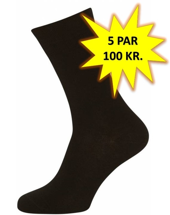 5 par Sorte Sokker Størrelse 48-53 (5-pak)