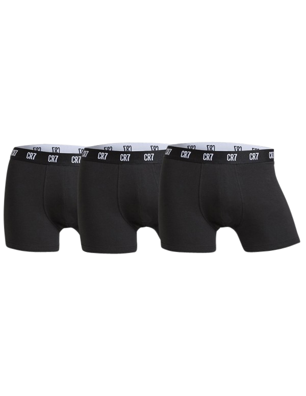 cr7 – Cr7 basic trunks 3-pack sort på shopwithsocks