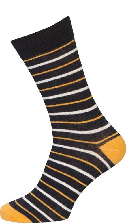 Billede af 3-pak Socks CPH Strømper Med Orange Striber 40-47