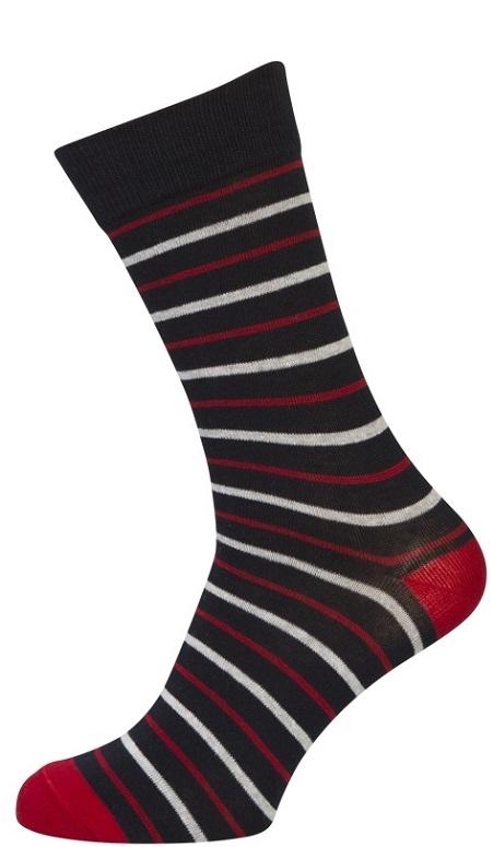 Billede af 3-pak Socks CPH Strømper Med Røde Striber 40-47
