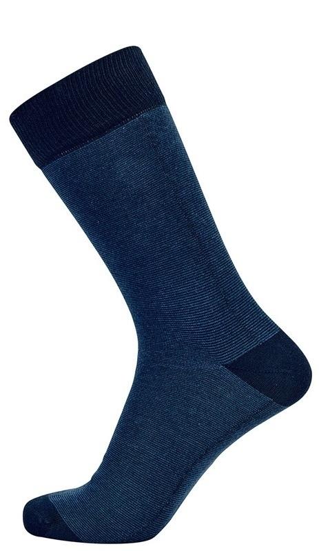 Blå jbs sokker med tætsiddende striber str. 40-47 fra jbs fra Edgy