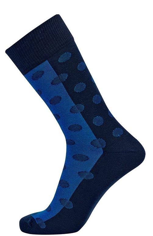 Blå / mørkeblå jbs sokker med prikker fra jbs fra Edgy.dk