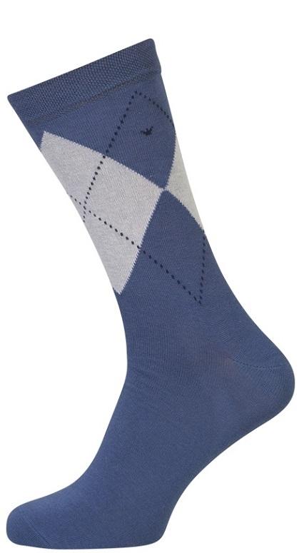 shopwithsocks – Blå strømper med terner - str. 47-50 på shopwithsocks