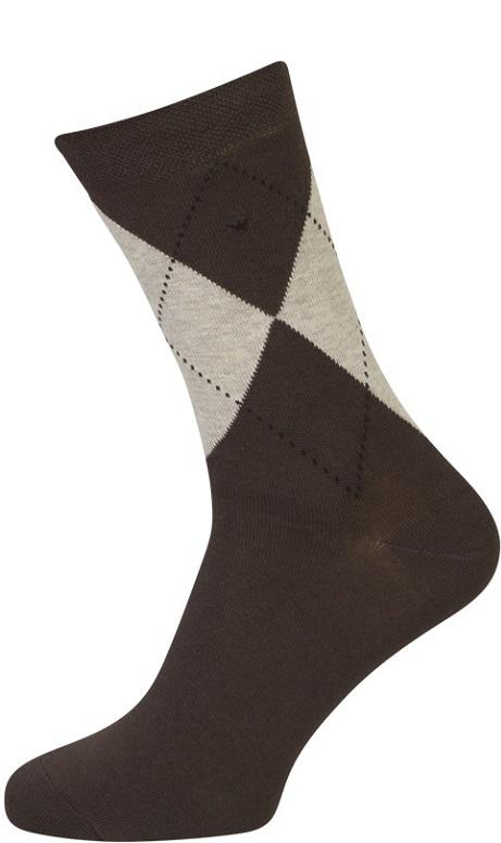shopwithsocks – Brune strømper med terner - str. 51-54 på shopwithsocks