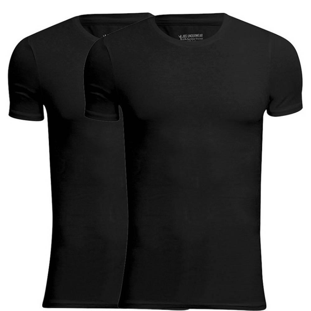 JBS Bambus T Shirts 2 Pak Sort Rund Hals