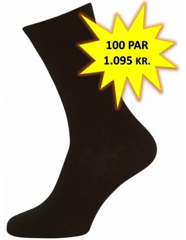 100 Par Gode Sorte Sokker (100-pak)