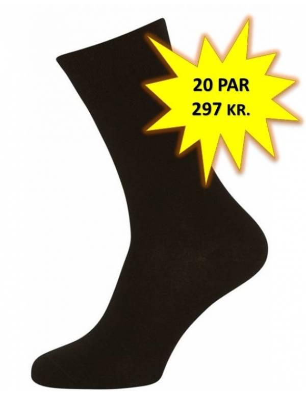 6f67147f 20 Par Sorte Sokker Størrelse 48-53 (20-pak)