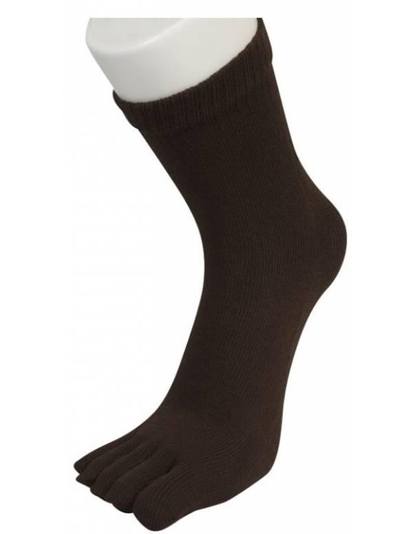 Billige Tåsokker Mørkebrun