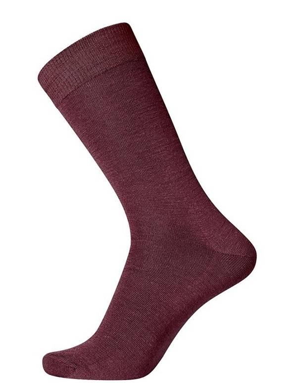 Mørkerøde Egtved Twin Socks Uldsokker 56222-570