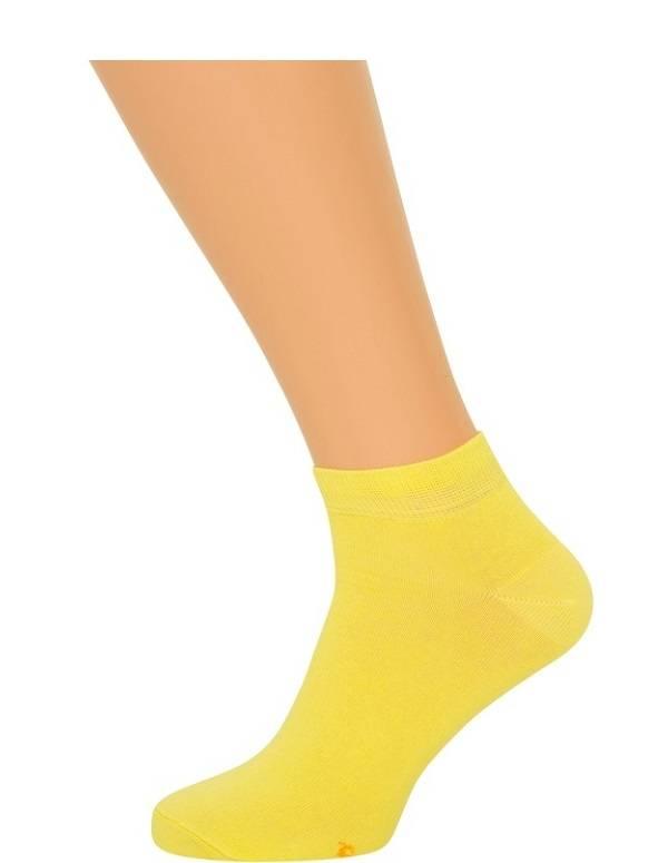 Gule ankelstrømper, lave strømper gul størrelse 35-38