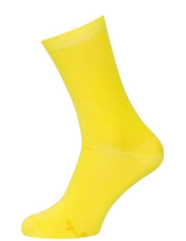 Store strømper, billige gule bomuldsstrømper str. 51-54