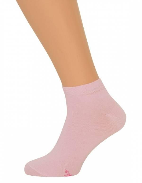 Billige lyserøde korte sokker til damer