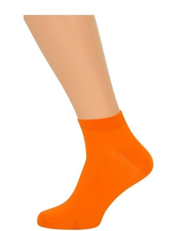 Orange ankelstrømper størrelse 35-38
