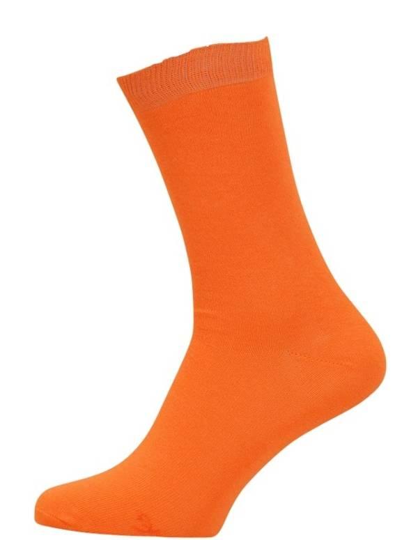 Orange strømper til mæd og damer str. 43-46