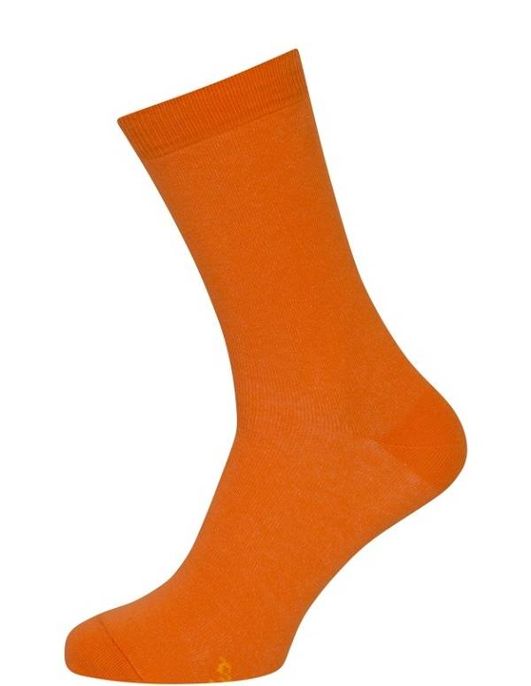 Billige orange strømper til damer og mænd str. 35-38