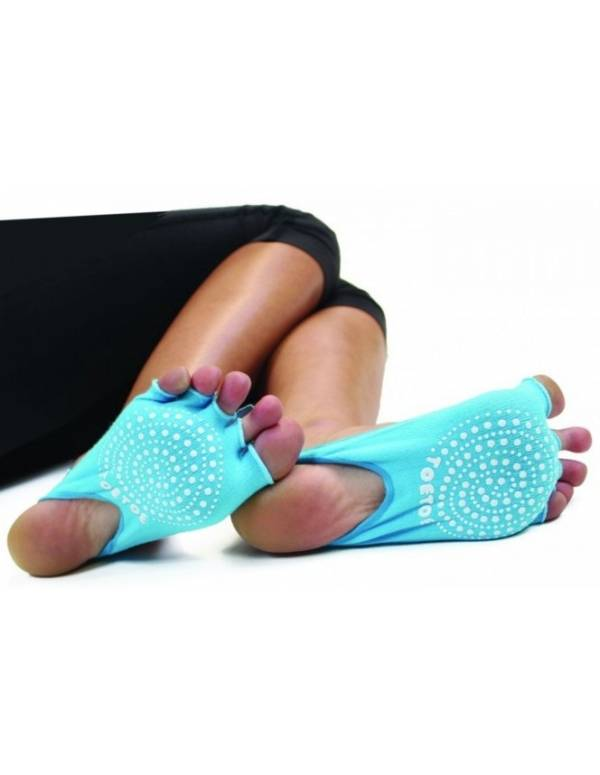 ToeToe Yoga&Pilates Half Open Toe Turkis - Str. 35-46