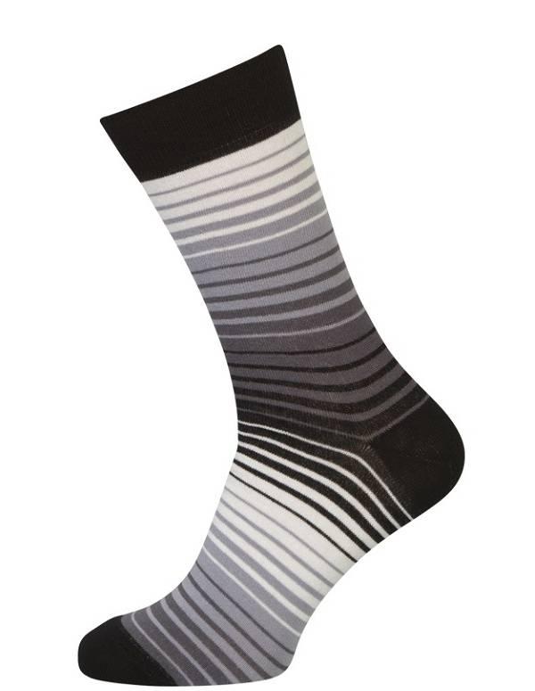 Klassiske sokker med striber
