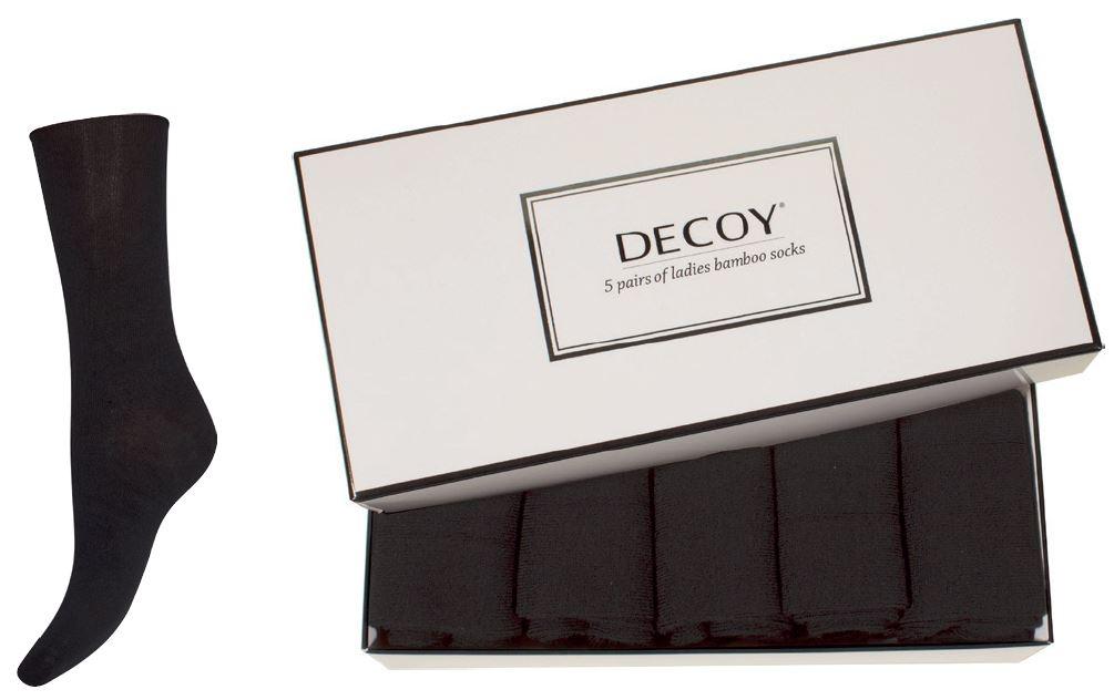 decoy – 5 par sorte decoy bambusstrømper i gaveæske - str. 37-41 fra shopwithsocks