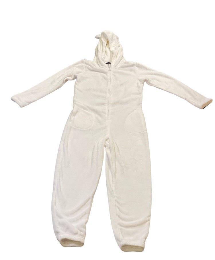 Image of   Hvid Decoy jumpsuit med ører