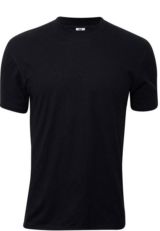 Image of   Sort Dovre T-Shirt Med Rund Hals - Str. XL