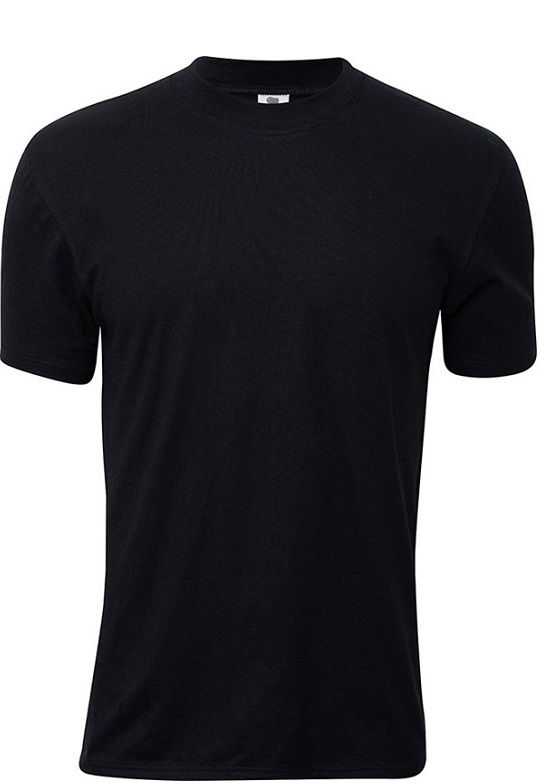 dovre Sort dovre t-shirt med rund hals - str. 4xl fra shopwithsocks
