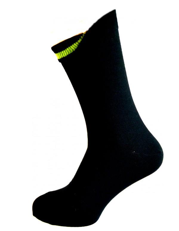 Image of   Sorte Sokker Med Indvendig Grøn Markering