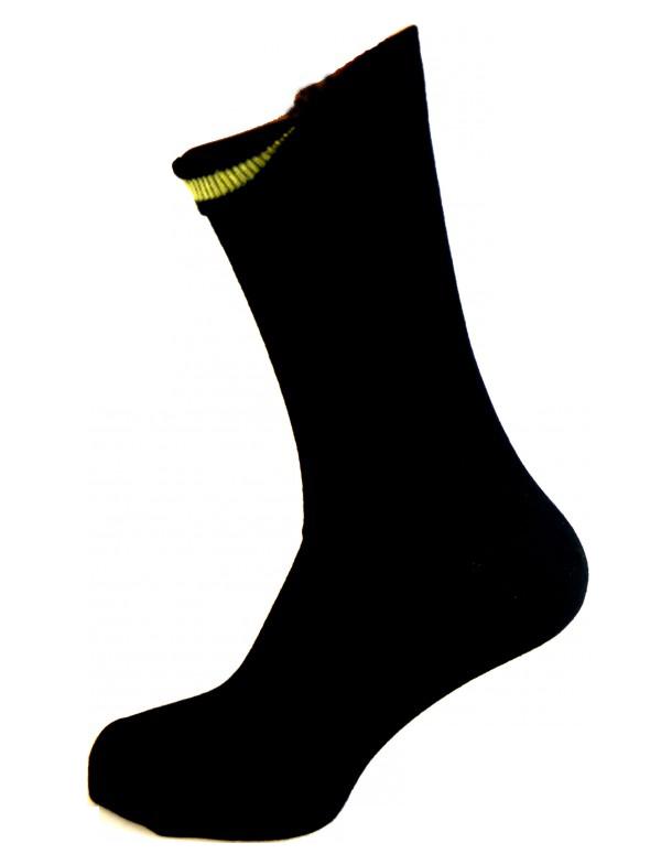Image of   Sorte Sokker Med Indvendig Gul Markering