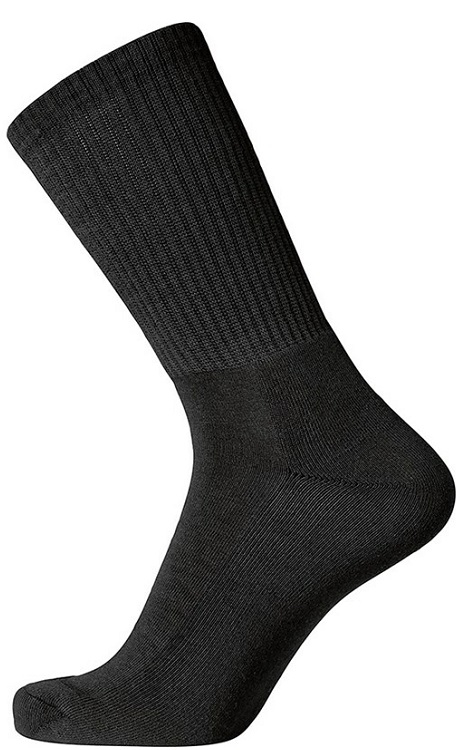 "egtved – Egtved bomuldstrømper ""terry sole"", sort - str. 45-48 fra shopwithsocks"
