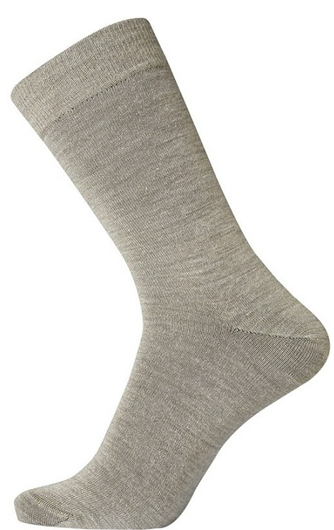 Image of   Egtved Twin Sock Uldstrømper Mørk Sand Str. 40-45