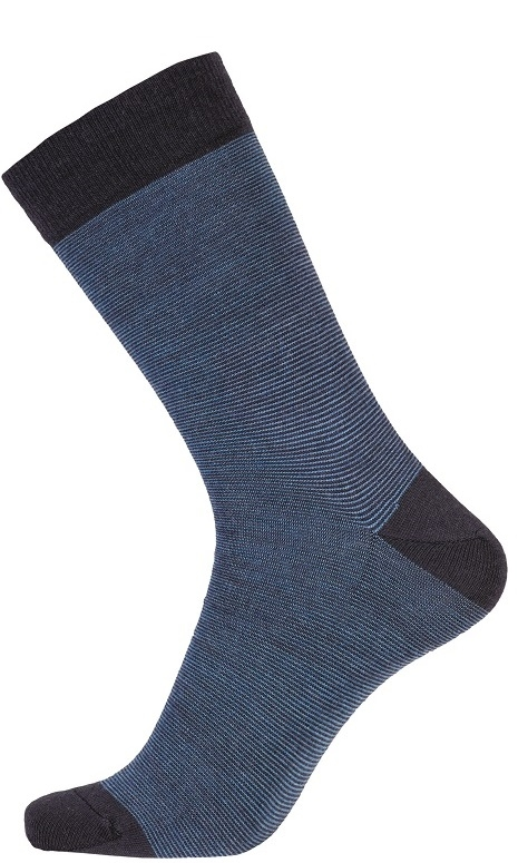 Image of   Blå Egtved Twin Sock Uldstrømper Str. 45-48