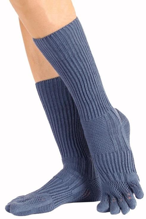 toetoe Toetoe golfstrømper med adskilte tæer blå str. 40-43 på shopwithsocks