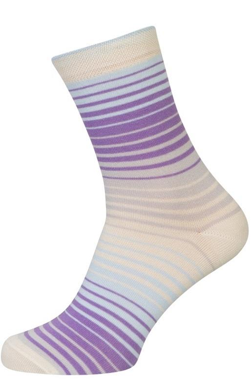 Hvide sokker med striber fra shopwithsocks fra shopwithsocks