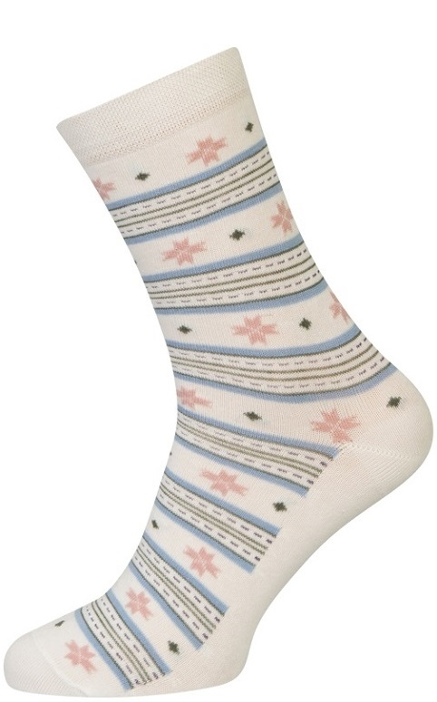 Image of   Hvide Sokker Med Striber