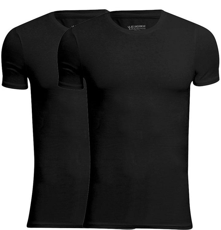 jbs Jbs bambus t-shirts 2-pak sort - rund hals fra shopwithsocks