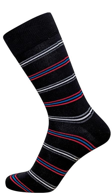Sorte jbs sokker med tynde striber fra jbs fra shopwithsocks