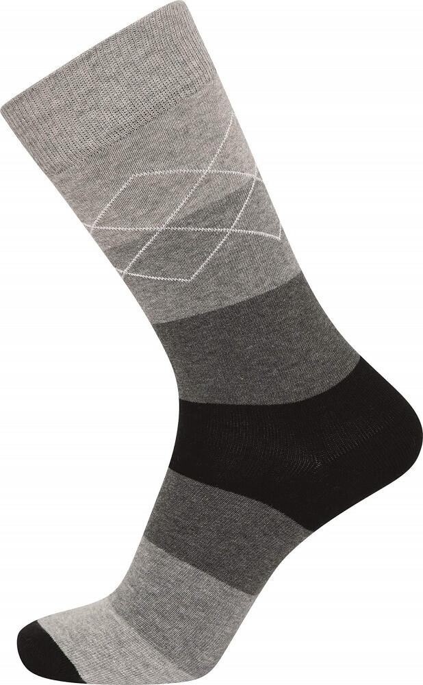 Image of   JBS strømper med grå striber - Str. 40-47