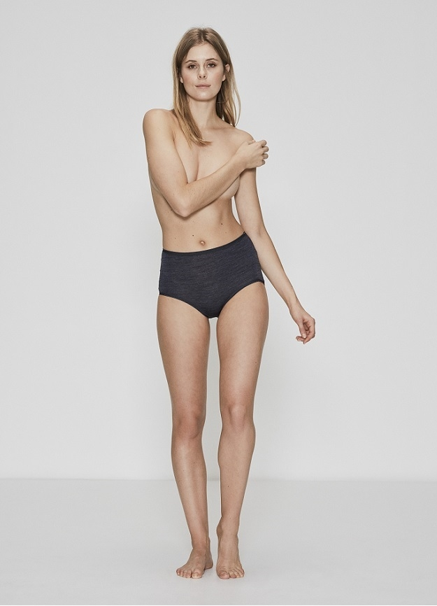Image of   JBS of Denmark Maxi brief i uld, bambus & silke grå melange - Str. medium