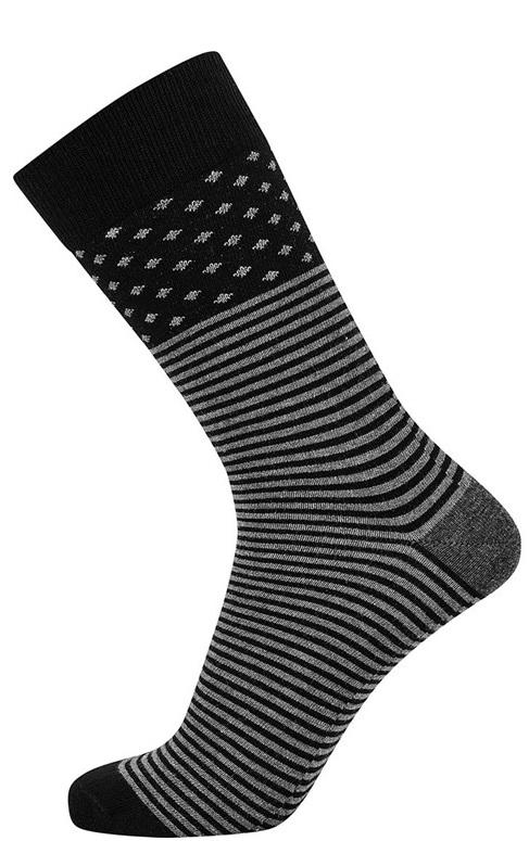 Grå jbs sokker med striber og prikker fra jbs fra Edgy