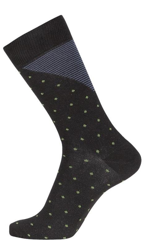 jbs – Sorte jbs strømper med striber og prikker str. 40-47 på shopwithsocks