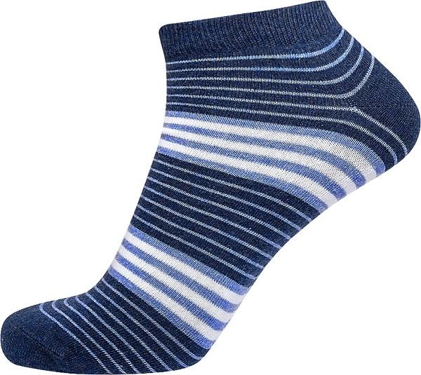 jbs Jbs ankelsokker med blå striber (korte sokker) fra shopwithsocks