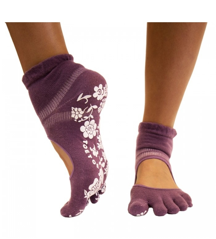 toetoe – Lilla yoga & pilates anti-slip tåstrømper str. 36-39 fra shopwithsocks