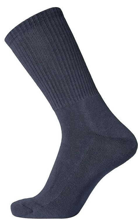 """egtved – Egtved bomuldstrømper """"terry sole"""", mørkeblå str. 45-48 på shopwithsocks"""