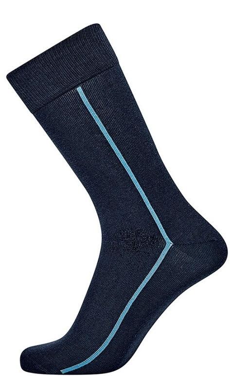 jbs Navy blå jbs sokker med stribe fra shopwithsocks