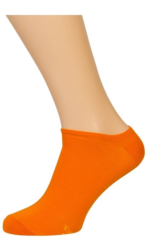 Orange Footies (under ankel) Str. 35-38
