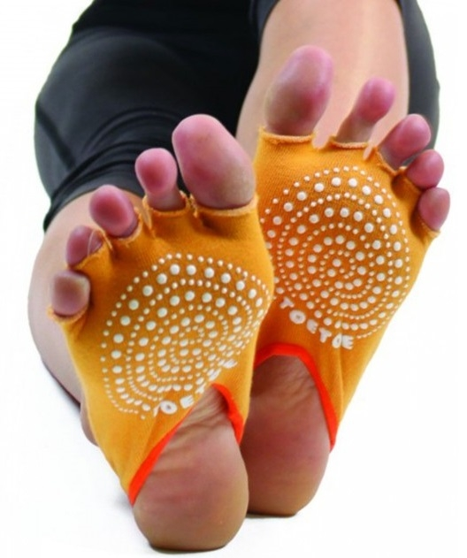 ToeToe Yoga&Pilates Half Open Toe Orange - Str. 35-46