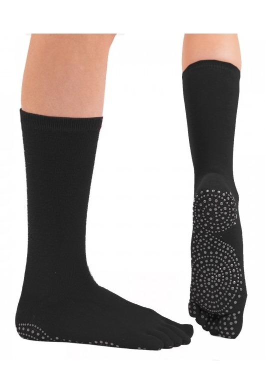 toetoe – Toetoe yoga & pilates mid-calf anti-slip strømper str. 44-47 fra shopwithsocks