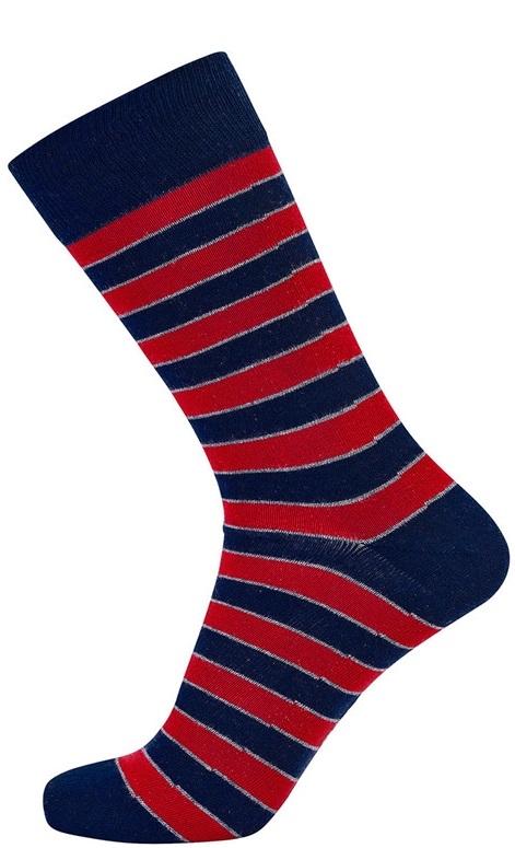 jbs Røde jbs sokker med sorte striber på Edgy.dk