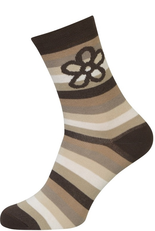 shopwithsocks – Strømper med brune striber - str. 35-38 på shopwithsocks